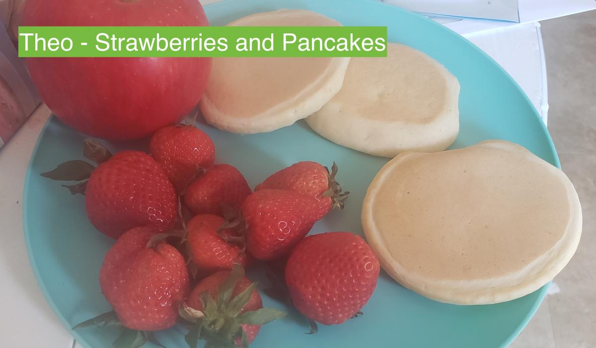 Theo | Strawberries and Pancakes