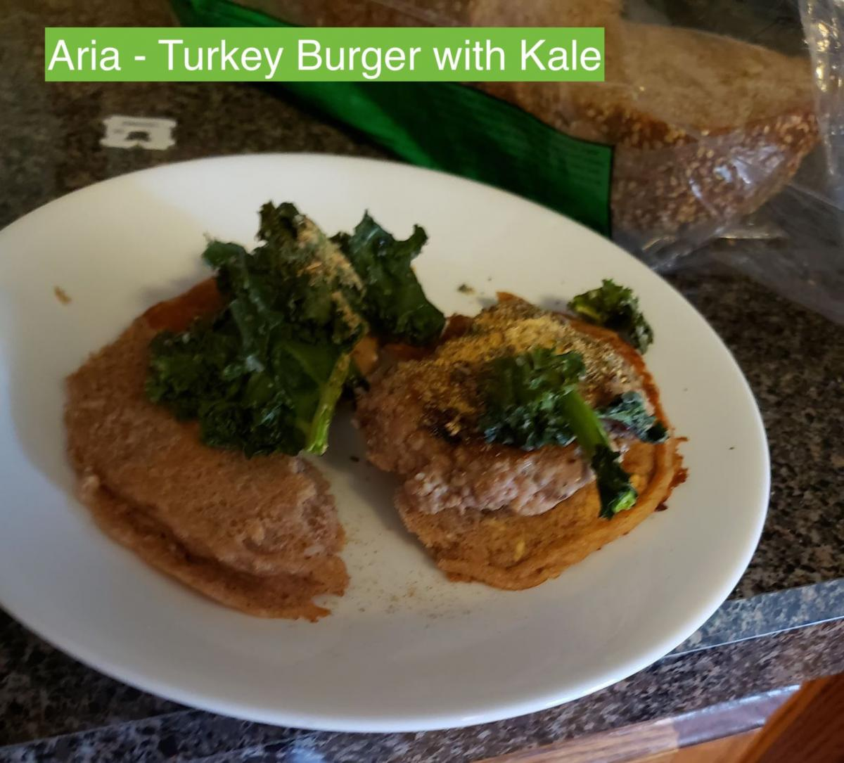 Aria | Turkey Burger with Kale