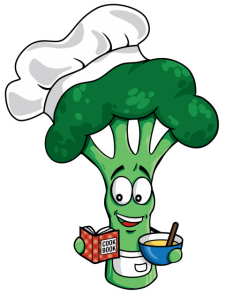 broc with a cook book
