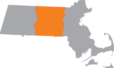 Map of MA with central highlighted