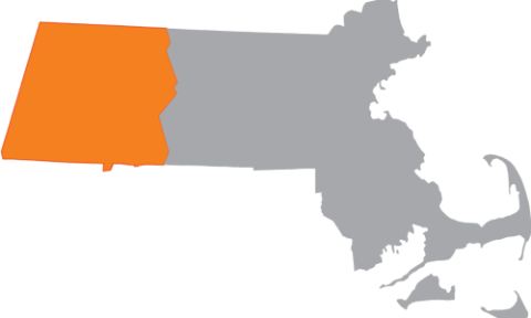 Map of MA with western highlighted