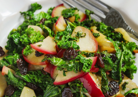 Spinach Salad with Apples and Raisins