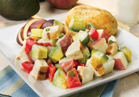 Avocado, Potato, and Grilled Chicken Salad