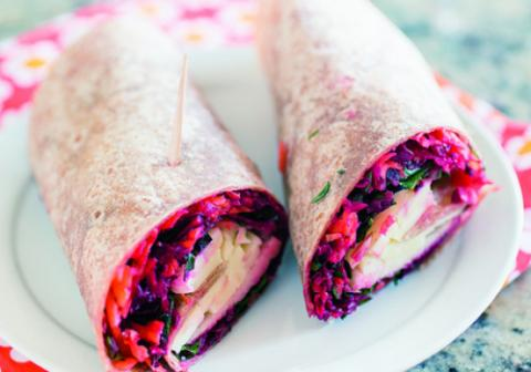 Beet-and-Carrot Slaw Wraps